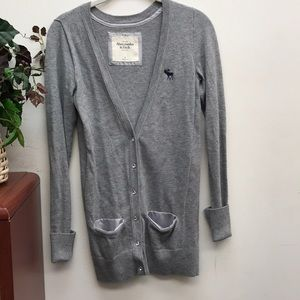 Abercrombie & Fitch Gray Button Up Cardigan